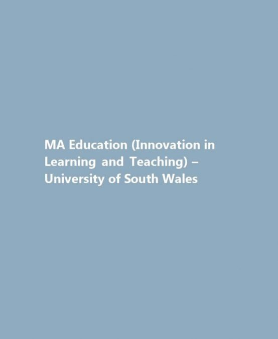 MA Education (Innovation in Learning and Teaching)